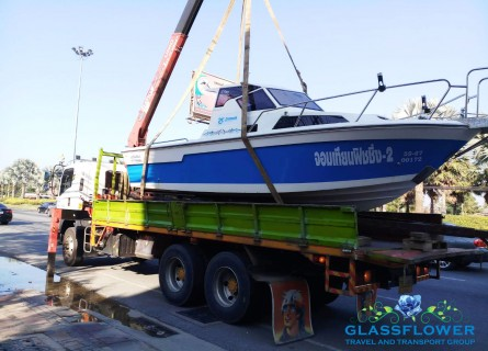 boat relocation services with glassflower pattaya thailand