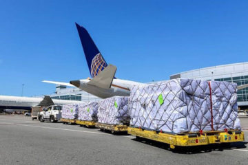 the parcel at the airport